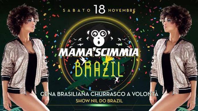 sabato 18 novembre 2017 mama scimmia brazil